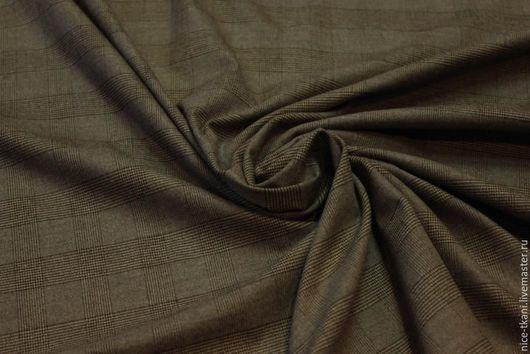 Шитье ручной работы. Ярмарка Мастеров - ручная работа. Купить 12901 Итальянская костюмная ткань. Handmade. Коричневый, костюмная ткань