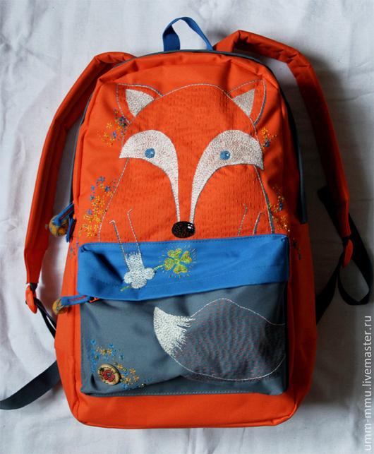 """Рюкзаки ручной работы. Ярмарка Мастеров - ручная работа. Купить рюкзак """"ЛИСЯНДРА""""_2. Handmade. Рыжий, клевер четырехлистный, оранжевый, сфера"""