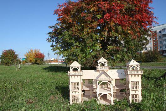 Кукольный дом ручной работы. Ярмарка Мастеров - ручная работа. Купить Кукольный домик 1М. Handmade. Кукольный дом, бежевый