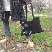 Классическая сумка ручной работы. Ярмарка Мастеров - ручная работа Элегантная черность. Handmade.