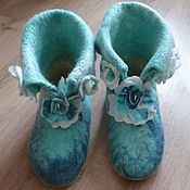Slippers handmade. Livemaster - original item Boots for the house. Slippers home