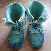 Обувь ручной работы handmade. Livemaster - original item Boots for the house. Slippers home