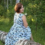 """Платья ручной работы. Ярмарка Мастеров - ручная работа Платье """"Лилии на голубом"""". Handmade."""