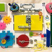 Бизиборды ручной работы. Ярмарка Мастеров - ручная работа Бизиборд для детей от 8 месяцев.. Handmade.