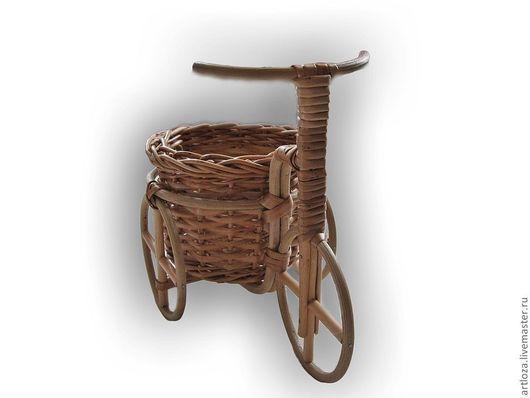 Миниатюрные модели ручной работы. Ярмарка Мастеров - ручная работа. Купить Едем, едем на велосипеде. Handmade. Бежевый, подарок
