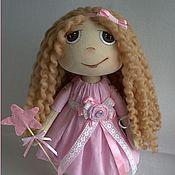 """Куклы и игрушки ручной работы. Ярмарка Мастеров - ручная работа Текстильная кукла """"Девочка в розовом"""". Handmade."""