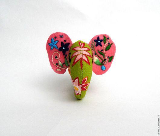 Брелоки ручной работы. Ярмарка Мастеров - ручная работа. Купить Слонятки. Handmade. Комбинированный, слон, позитив, мулине