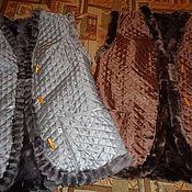 Одежда ручной работы. Ярмарка Мастеров - ручная работа Жилет женский из натурального меха. Handmade.