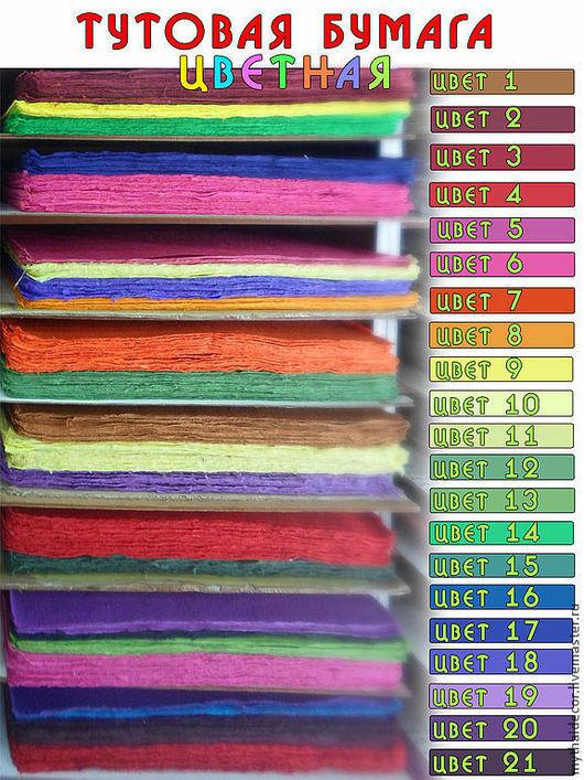 Тутовая бумага Mulberry. Набор 10 листов A4 My Thai Decor. Материалы для декора из Таиланда
