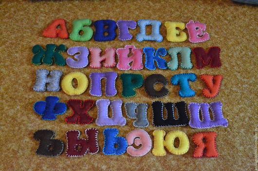 Развивающие игрушки ручной работы. Ярмарка Мастеров - ручная работа. Купить Алфавит из фетра. Handmade. Комбинированный, фетровая игрушка
