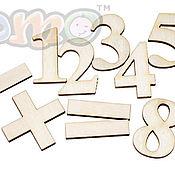 Линейки ручной работы. Ярмарка Мастеров - ручная работа Набор математический (цифры). Handmade.