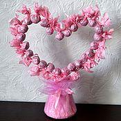 Подарки к праздникам ручной работы. Ярмарка Мастеров - ручная работа букет из конфет Любимой сладкий подарок на любой случай. Handmade.