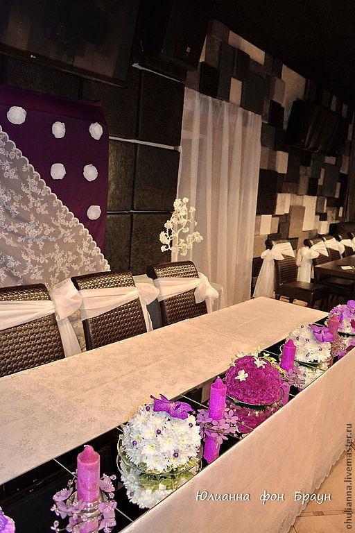 Свадебные цветы ручной работы. Ярмарка Мастеров - ручная работа. Купить оформление свадебного торжества. Handmade. Сиреневый, оформление стен