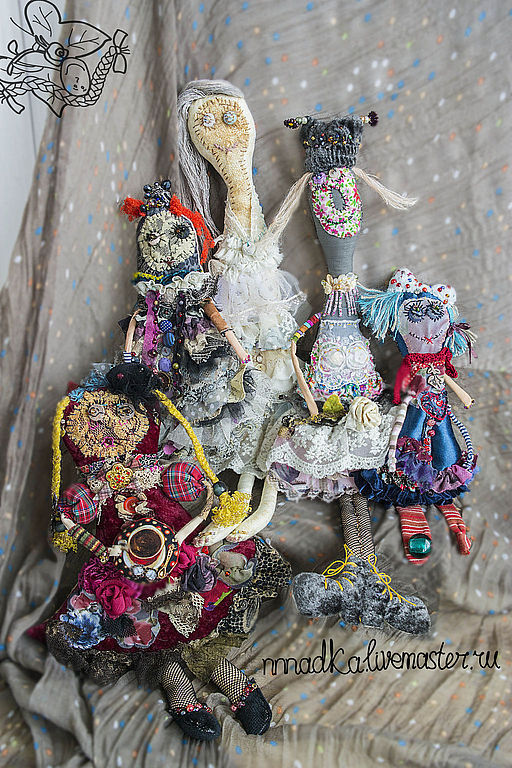 Коллекционные куклы ручной работы. Ярмарка Мастеров - ручная работа. Купить лоскутное ФРИКасе. Handmade. Кукла, фрик, текстильная кукла