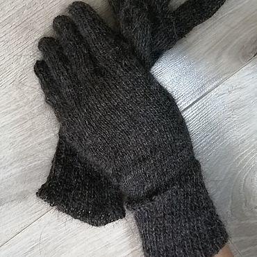 Accessories handmade. Livemaster - original item Warm down gloves. Handmade.