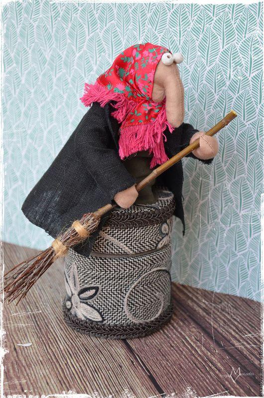 Шкатулки ручной работы. Ярмарка Мастеров - ручная работа. Купить Баба Яга и Домовята. Handmade. Разноцветный, домовой, Домовенок Кузя