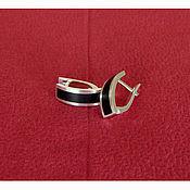 Украшения handmade. Livemaster - original item Silver earrings with jet. Handmade.