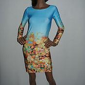 """Одежда ручной работы. Ярмарка Мастеров - ручная работа """"Цветы"""" Платье с цветочным принтом. Handmade."""