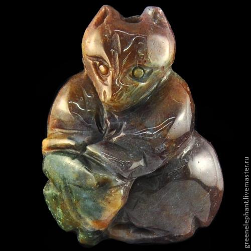 """Для украшений ручной работы. Ярмарка Мастеров - ручная работа. Купить Кулон """"Мишка с рыбкой"""". Handmade. Кулон, подвеска"""