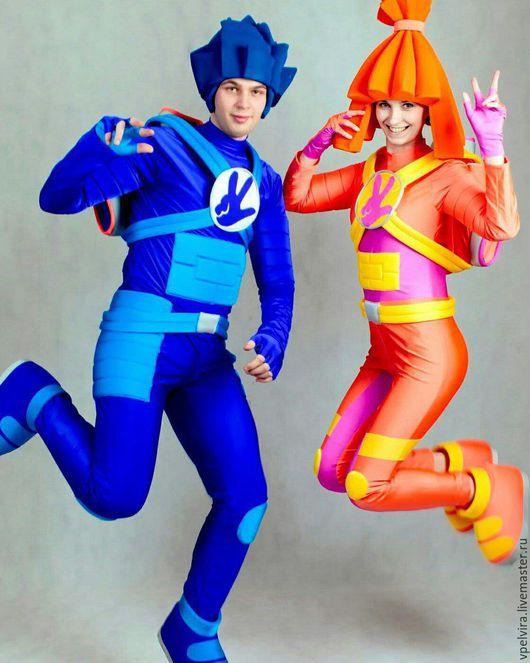 Костюмы для аниматоров Фиксики Нолик и Симка. Профессиональные костюмы для аниматоров, реквизит для шоу и игр.  Реквизит для игр Фиксики. (Фото наших клиентов)