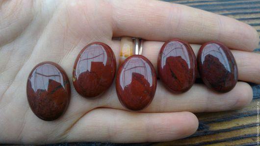 Для украшений ручной работы. Ярмарка Мастеров - ручная работа. Купить Кабошон красная яшма 25х18мм. Handmade. Кабошон