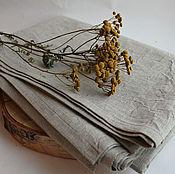 Для дома и интерьера ручной работы. Ярмарка Мастеров - ручная работа Простынь-полотенце из умягченного льна.. Handmade.