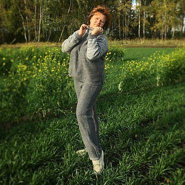 Одежда ручной работы. Ярмарка Мастеров - ручная работа Серый трикотажный Спортивный костюм. Handmade.