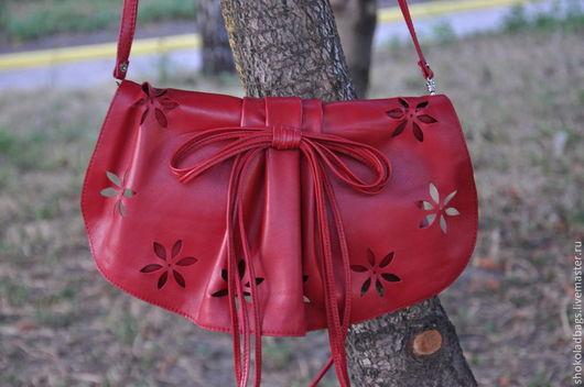 """Женские сумки ручной работы. Ярмарка Мастеров - ручная работа. Купить Кожаный клатч  """" Весна наконец-то..."""" (2). Handmade."""