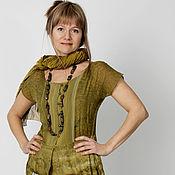 Одежда handmade. Livemaster - original item A set of 2pcs: chemise goes together with chiffon dress!!. Handmade.