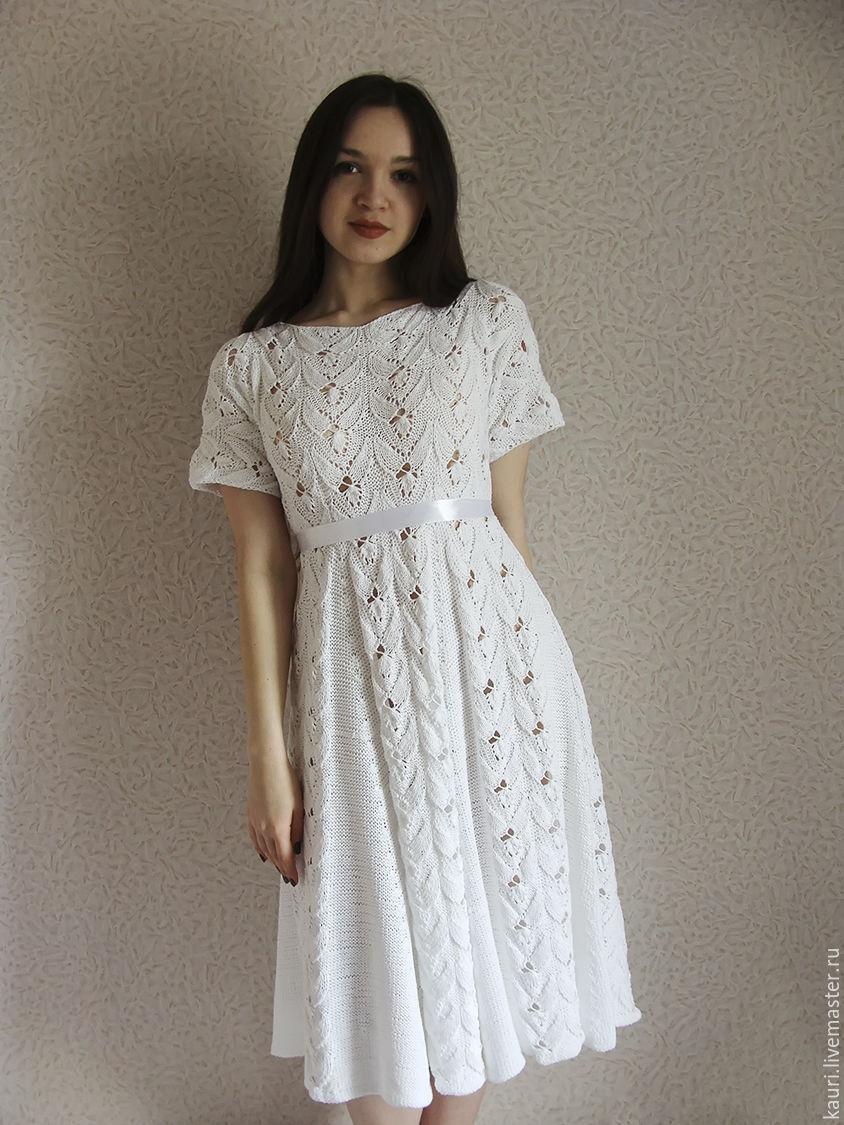 Платье вязаное летнее Винтаж из итальянского хлопка ...