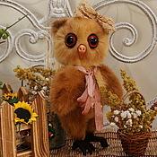 Куклы и игрушки ручной работы. Ярмарка Мастеров - ручная работа Совушка тедди Нюрочка. Handmade.
