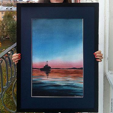 Картины и панно ручной работы. Ярмарка Мастеров - ручная работа Авторская картина акварелью Белое море. Handmade.