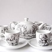 Посуда ручной работы. Ярмарка Мастеров - ручная работа Сервиз Алиса в Стране Чудес. Handmade.