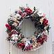 Новый год 2017 ручной работы. Рождественский венок. Cadeaux de Noёl. Интернет-магазин Ярмарка Мастеров. Красный, декор дома