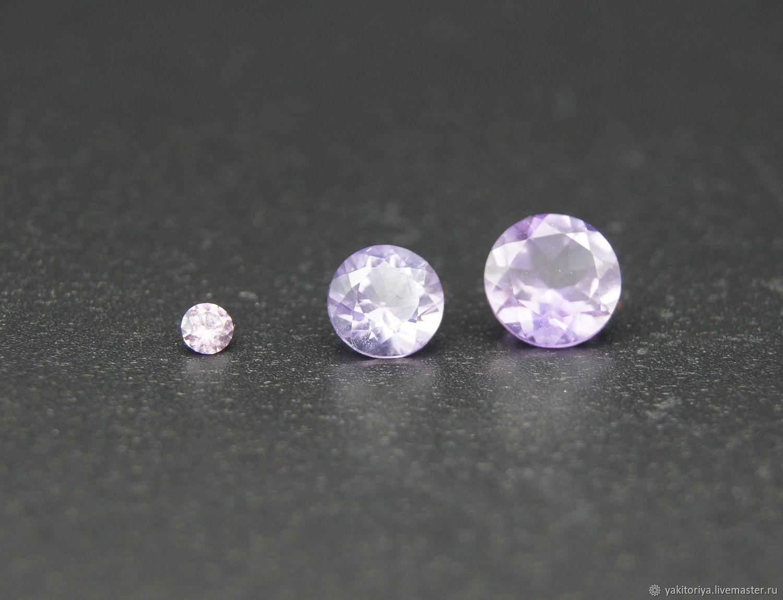 Amethyst light purple circle, Cabochons, Moscow,  Фото №1