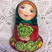 """Куклы и игрушки ручной работы. Ярмарка Мастеров - ручная работа Неваляшка """"Хороша моя капуста"""". Handmade."""