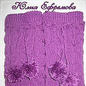 """Аксессуары ручной работы. Ярмарка Мастеров - ручная работа Гетры """"Виолет"""". Handmade."""