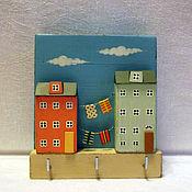 Для дома и интерьера ручной работы. Ярмарка Мастеров - ручная работа вешалка для ключей. Handmade.