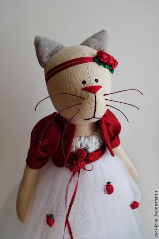 Куклы Тильды ручной работы. Ярмарка Мастеров - ручная работа. Купить Кошка для подруги. Handmade. Кошка, подарок на 8 марта
