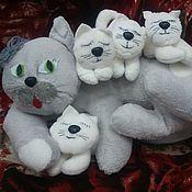 Куклы и игрушки ручной работы. Ярмарка Мастеров - ручная работа Кошка с котятами.. Handmade.