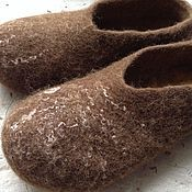 Обувь ручной работы. Ярмарка Мастеров - ручная работа Валяные тапки мужские. Handmade.
