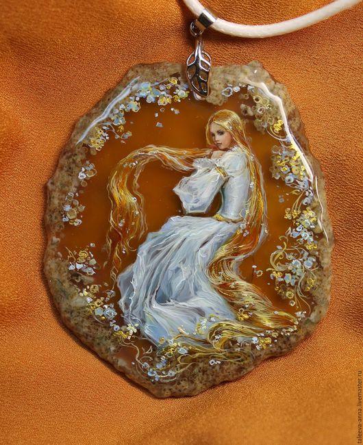 """Кулоны, подвески ручной работы. Ярмарка Мастеров - ручная работа. Купить Кулон """"Златовласка"""". Handmade. Оранжевый, миниатюра"""