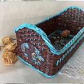 """Для дома и интерьера ручной работы. Ярмарка Мастеров - ручная работа Корзинка """"Бирюза в шоколаде"""". Handmade."""