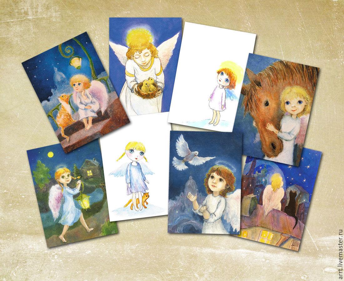 Рождественские ангелы Набор 8 открыток, Открытки, Санкт-Петербург,  Фото №1