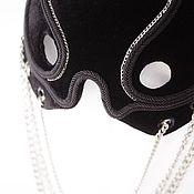 Субкультуры handmade. Livemaster - original item Velvet half mask with Skull chains». Handmade.