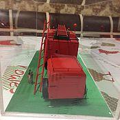 Подарки к праздникам ручной работы. Ярмарка Мастеров - ручная работа Модель пожарного автомобиля в масштабе 1:35. Handmade.