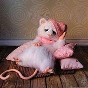 Мягкие игрушки ручной работы. Ярмарка Мастеров - ручная работа Сонная мышь Сонечка. Handmade.