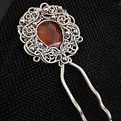 Украшения handmade. Livemaster - original item Hairpin for hair with carnelian
