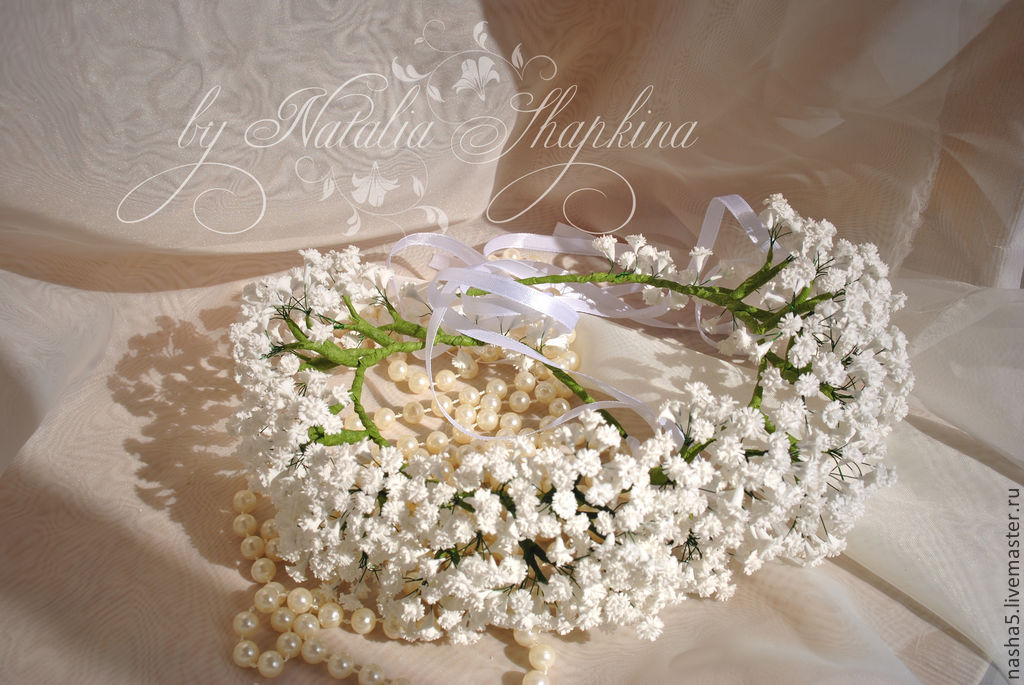 A flower crown of baby s breath