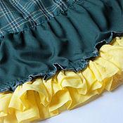 Одежда ручной работы. Ярмарка Мастеров - ручная работа Зеленая ярусная миди юбка. Бохо стиль. Handmade.